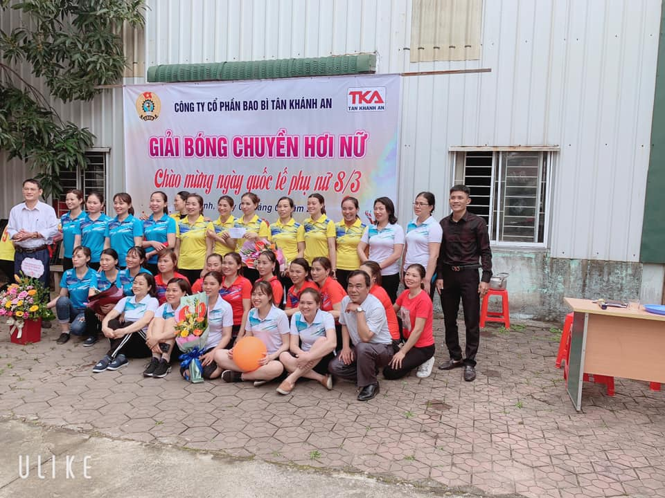 Giải bóng chuyền hơi nữ chào mừng ngày 08/03/2021
